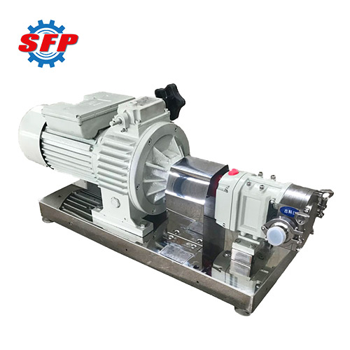 3RP Lobe Pump With Infinitely Variable Speed Reducer